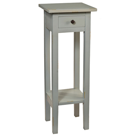 Sumatra Pedestal Table, Silver Gray