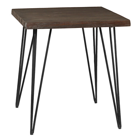 Atlas Live Edge Side Table, Espresso