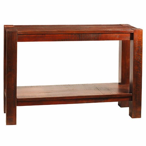 Rory Wide Leg Modern Rustic Console, Rustic Tobacco