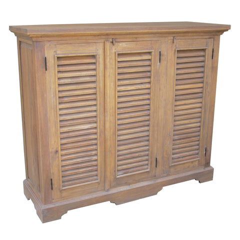 Nantucket Three Door Cabinet, Old Antique