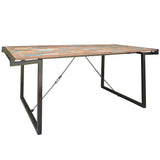 Lipari Metal & Wood Dining Table