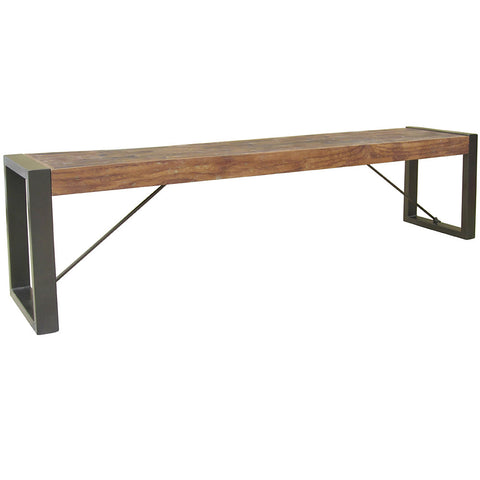 Procida Metal & Wood Bench Table