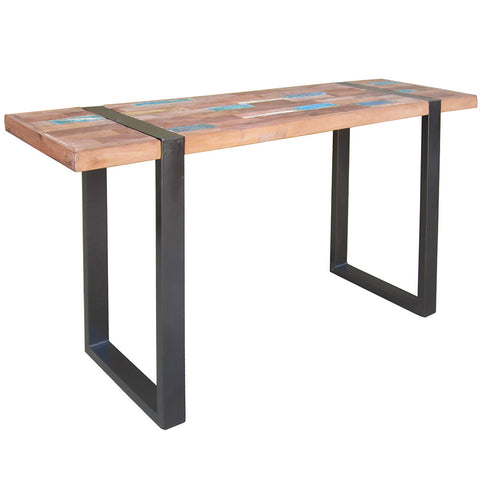 Ponza Metal & Wood Console Table