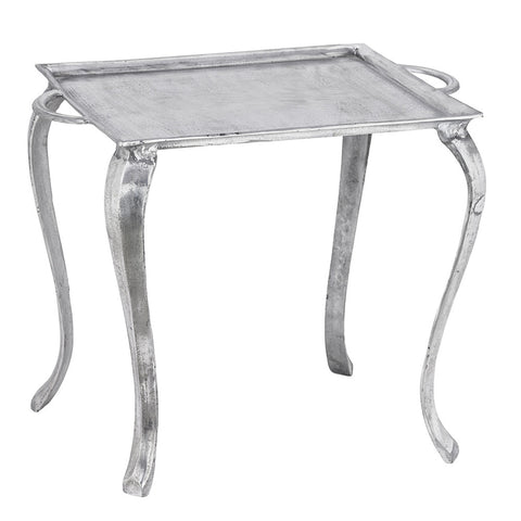 Patras Side Table, Aluminum