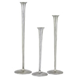 Corinth Candlestick Set of 3, Pewter