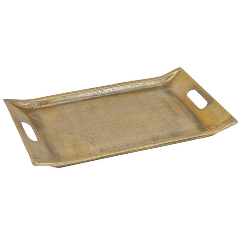 Volos Tray Large, Antique Gold
