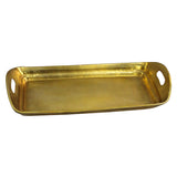 Chania Rounded Edge Tray Large Extra-Large, Antique Gold