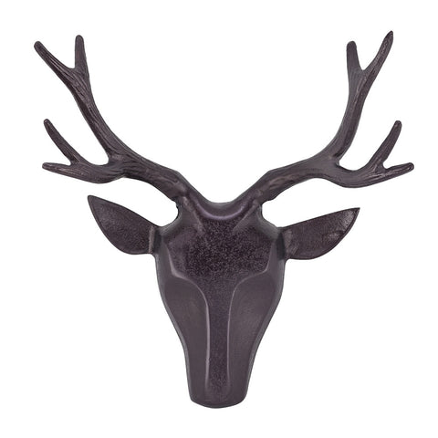 Deer Head, Antique Bronze