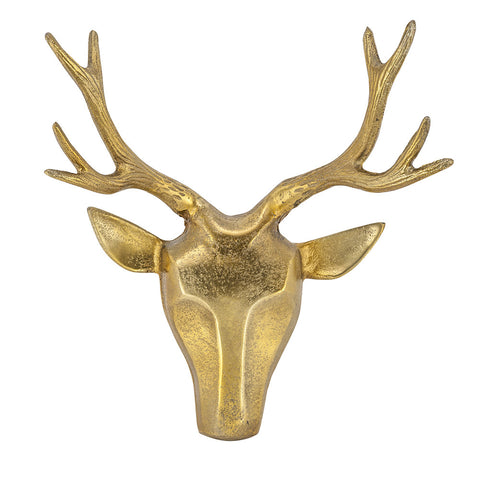 Deer Head, Antique Gold