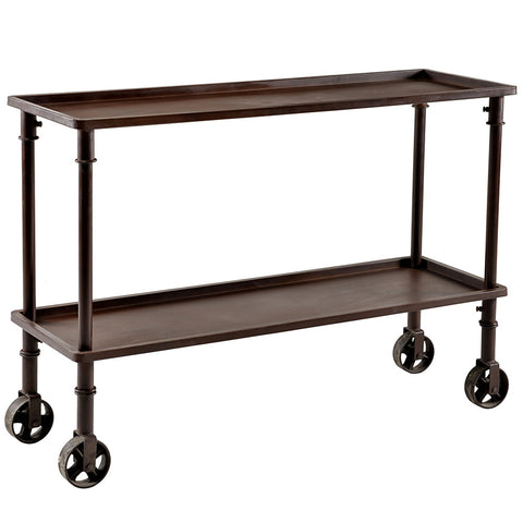 Tumsar Iron Folding Console, Bronze
