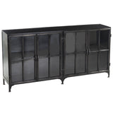 Taranto Iron and Glass Cabinet, Gun Metal