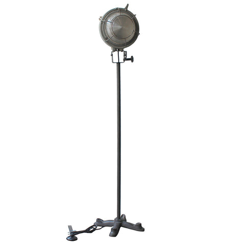 Industrial Floor Lamp, Gray Wash