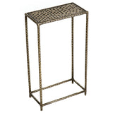 Little Hammered Iron Side Table, Brass Antique