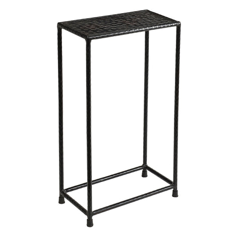 Little Hammered Iron Side Table, Antique Black