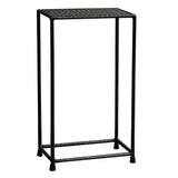 Little Hammered Iron Side Table, Buff