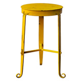 Nice Little Stool / Side Table, Yellow