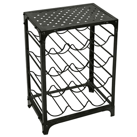 Iron Wine Rack, Gun Metal