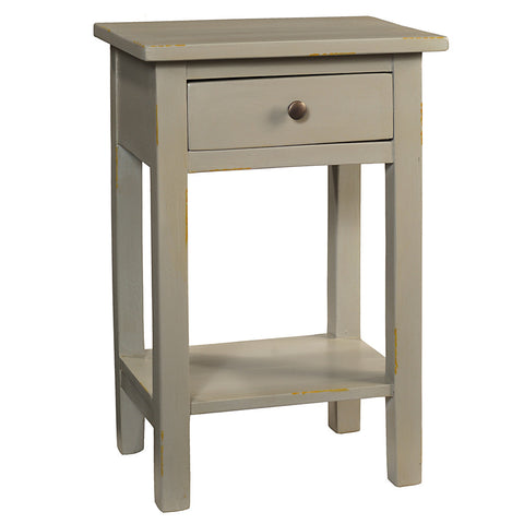 Tarakan End Table, Silver Gray