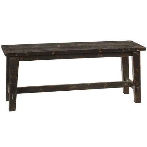 Trenon Bench, Rustic Black