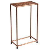 Little Hammered Iron Side Table, Copper