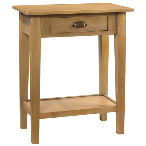 Chewi One Drawer Console, Gray Wash