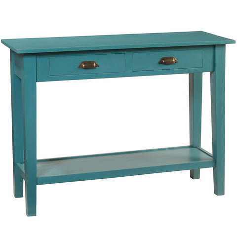 Chewi Two Drawer Console, Teal