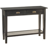 Chewi Two Drawer Console, Black
