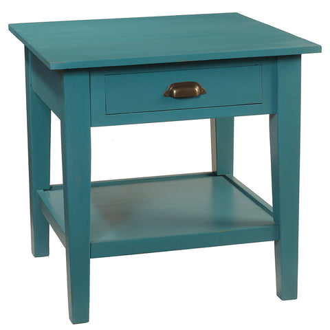 Chewi End Table, Teal