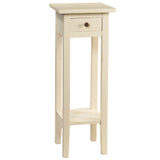 Sumatra Pedestal Table, Cloud White