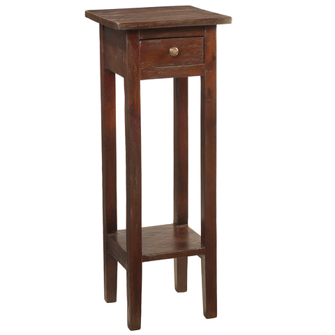 Sumatra Pedestal Table, Dark Mahogany