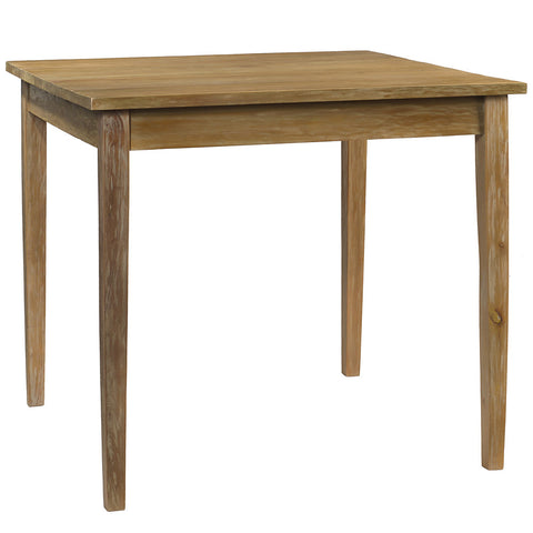 "Farmhouse Dining Table 40"" x 40"" x 36"", Gray Wash"