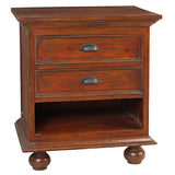 Cora Nightstand, Light Mahogany