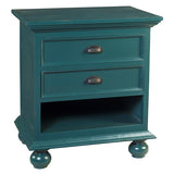 Cora Nightstand, Ocean Green