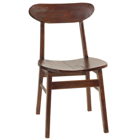 Ropan Oval Back Dining Chair, Dark Mahogany