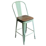 "Frenchy Counter Stool - 25"" seat, Mint Green"