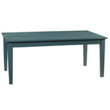 "Farmhouse Dining Table 72"", Teal"