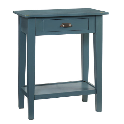 Chewi One Drawer Console, Ocean Green