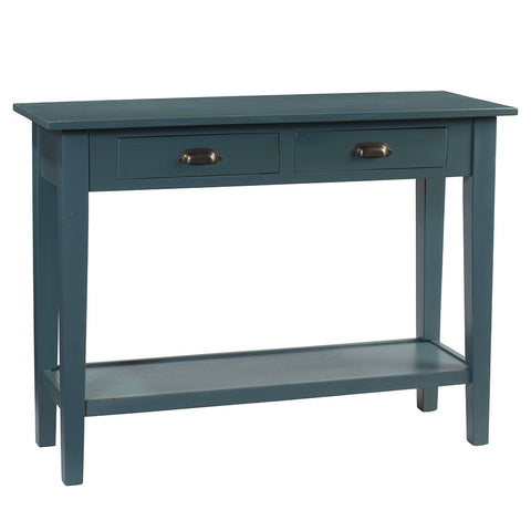 Chewi Two Drawer Console, Ocean Green