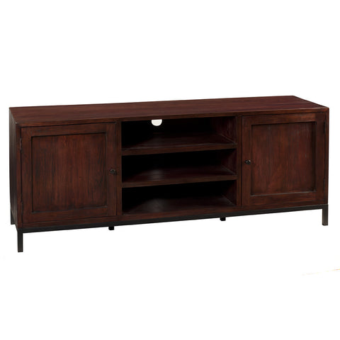 Seattle Media Stand, Dark Mahogany