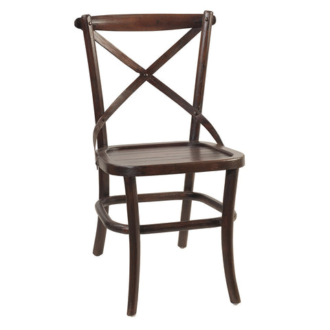 Crossback Dining Chair, Dark Mahogany