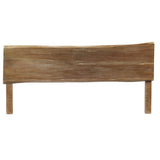 Live Edge Queen Headboard, Gray Wash
