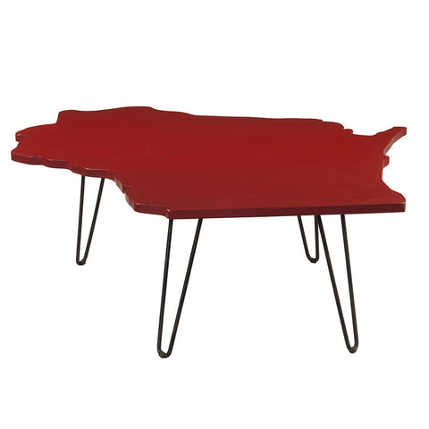 Wisconsin Coffee Table, True Red
