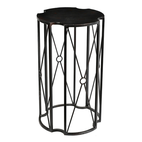 Pallas Iron Side Table, Antique Black