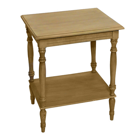 Sybil Side Table, Natural with Gray Wash
