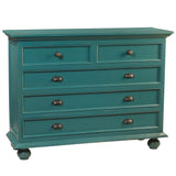Callie 5 Drawer Chest, Ocean Green