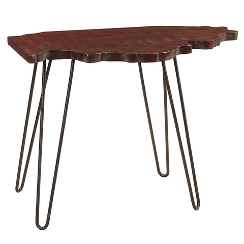 Illinois End Table, Rustic Tobacco