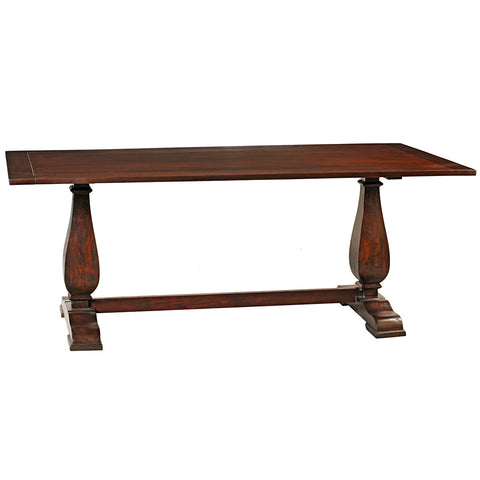 Tabitha Trestle Dining Table, Dark Mahogany