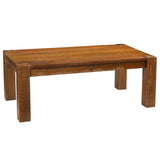Maxwell Modern Rustic Coffee Table, Rustic Honey