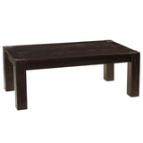 Maxwell Modern Rustic Coffee Table, Rustic Espresso