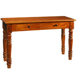 Miles Turned Leg Console, Rustic Honey